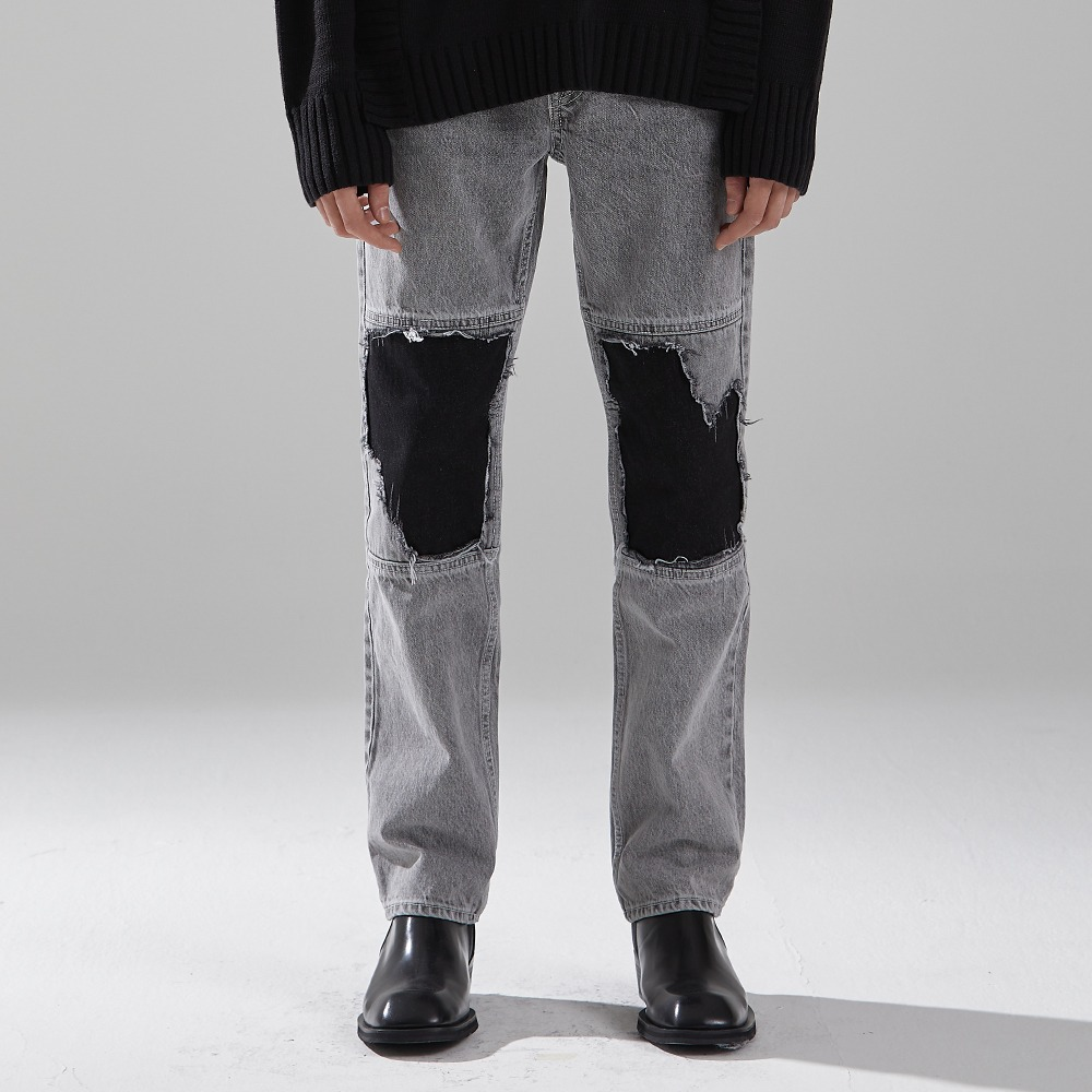 GREY NERVE DENIM TROUSERS메종미네드 MAISON MINED 메종미네드