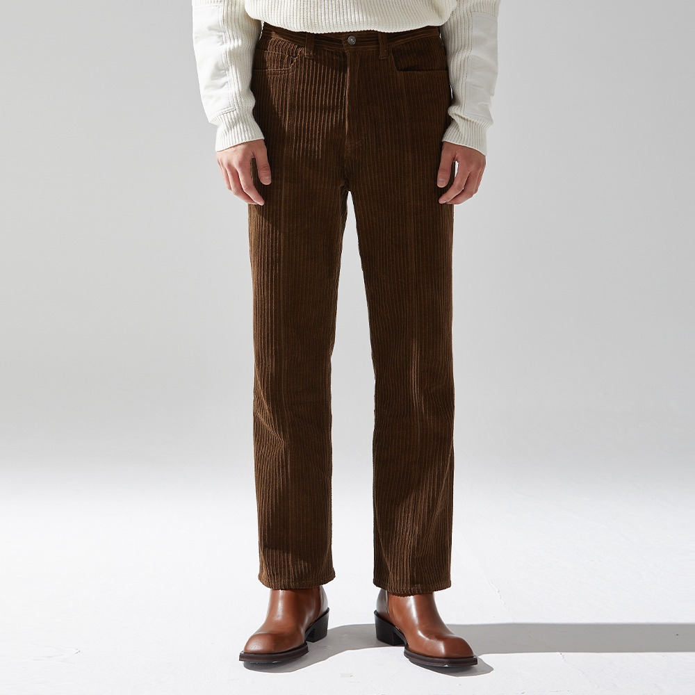 CORDUROY BOOTS PANTS BROWN메종미네드 MAISON MINED 메종미네드