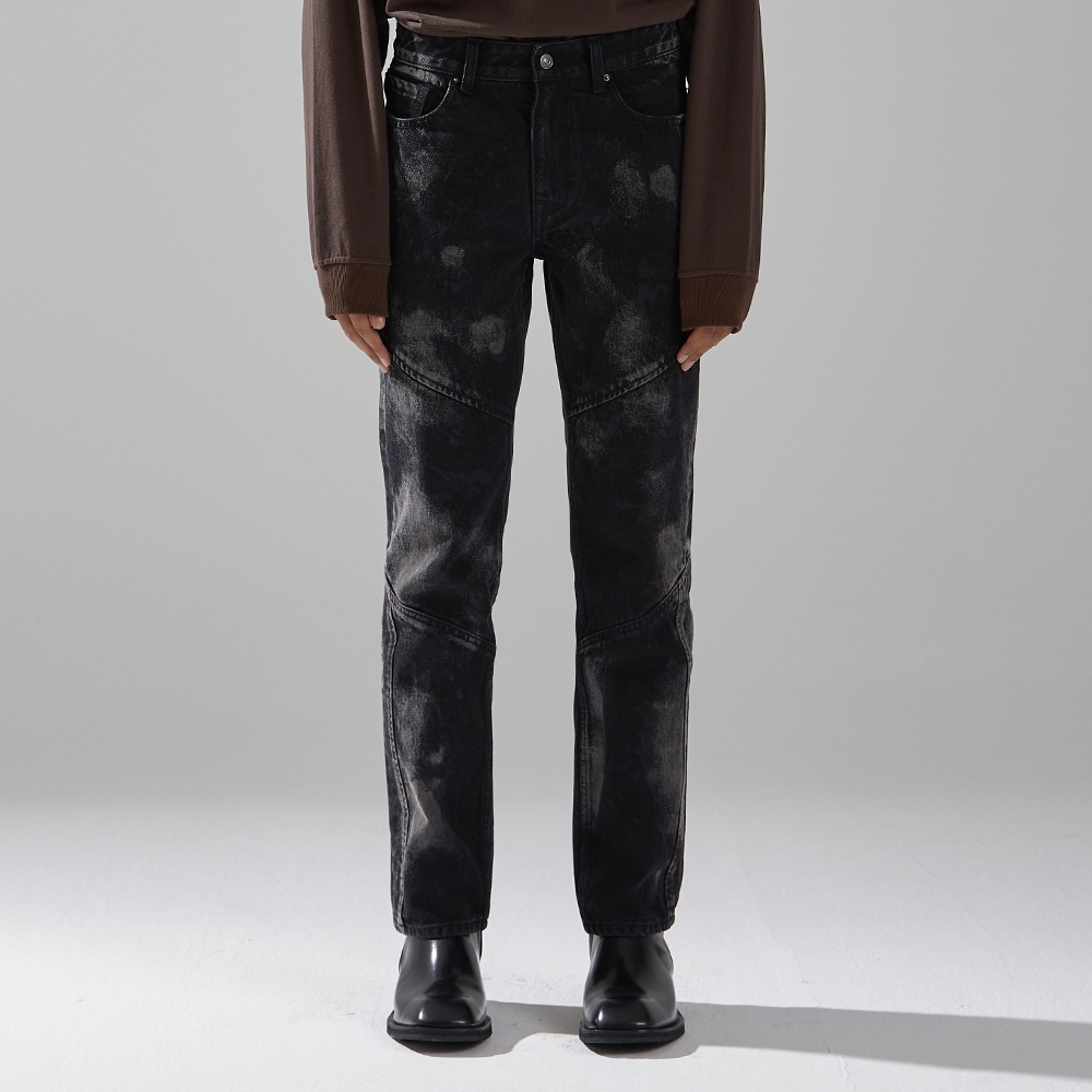 BLACK UNIVERSE DENIM TROUSERS메종미네드 MAISON MINED 메종미네드
