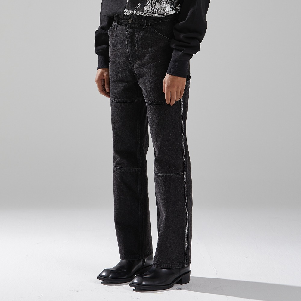 BLACK SPREAD CARPENTER DENIM메종미네드 MAISON MINED 메종미네드