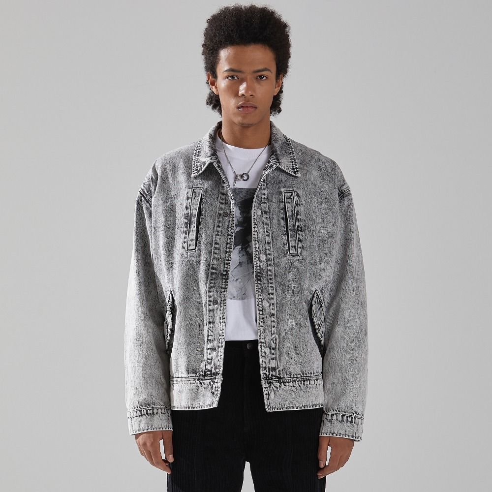 WHITE SPREAD DENIM JACKET메종미네드 MAISON MINED 메종미네드
