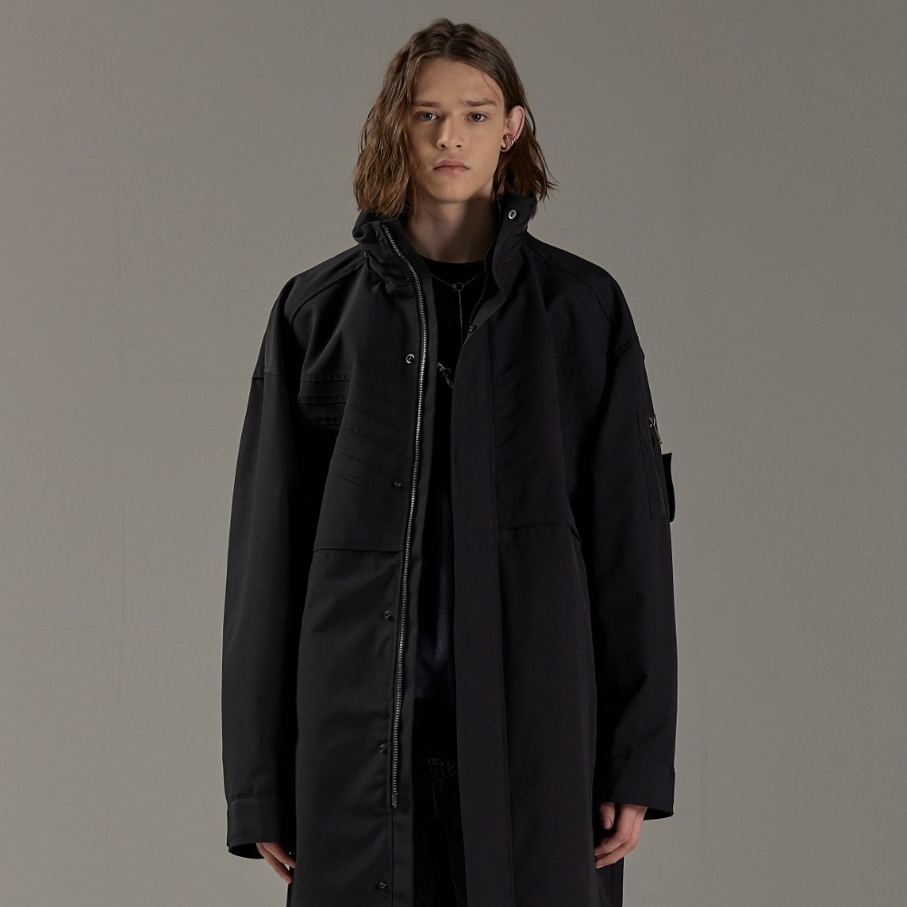 STEEL BLACK OVERSIZED LONG MA-1메종미네드 MAISON MINED 메종미네드