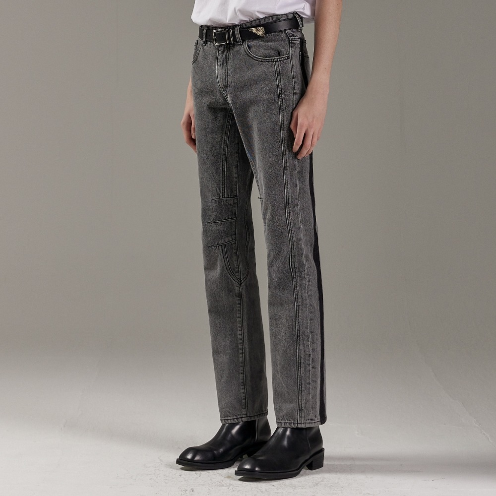 ROSSE DENIM PANTS GREY (3-PIECE)메종미네드 MAISON MINED 메종미네드
