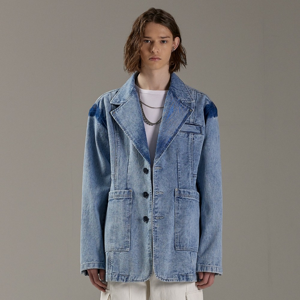 ARCTIC BLUE DENIM JACKET메종미네드 MAISON MINED 메종미네드