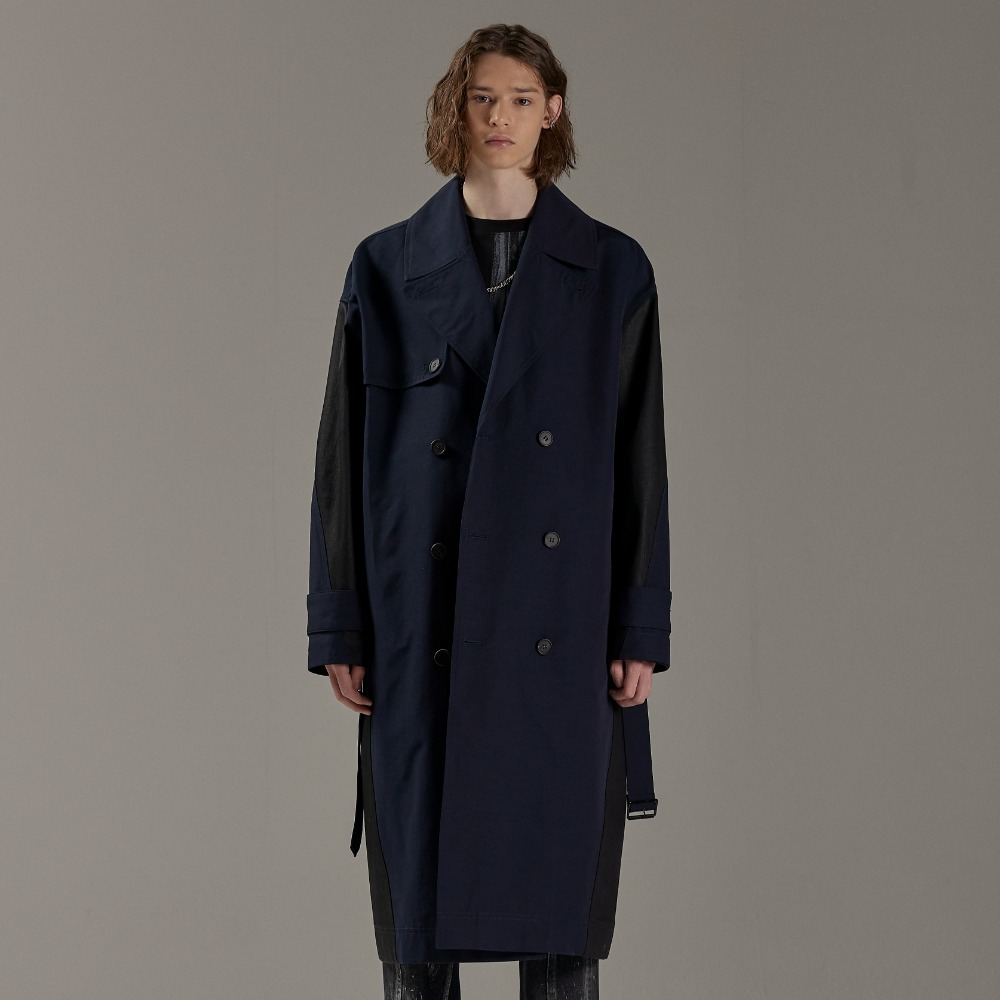 COLOURWAY OVERSIZED TRENCH COAT NAVY메종미네드 MAISON MINED 메종미네드