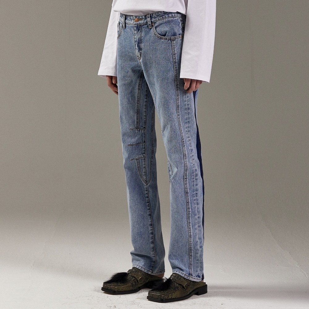 ROSSE DENIM PANTS M/BLUE (3-PIECE)메종미네드 MAISON MINED 메종미네드