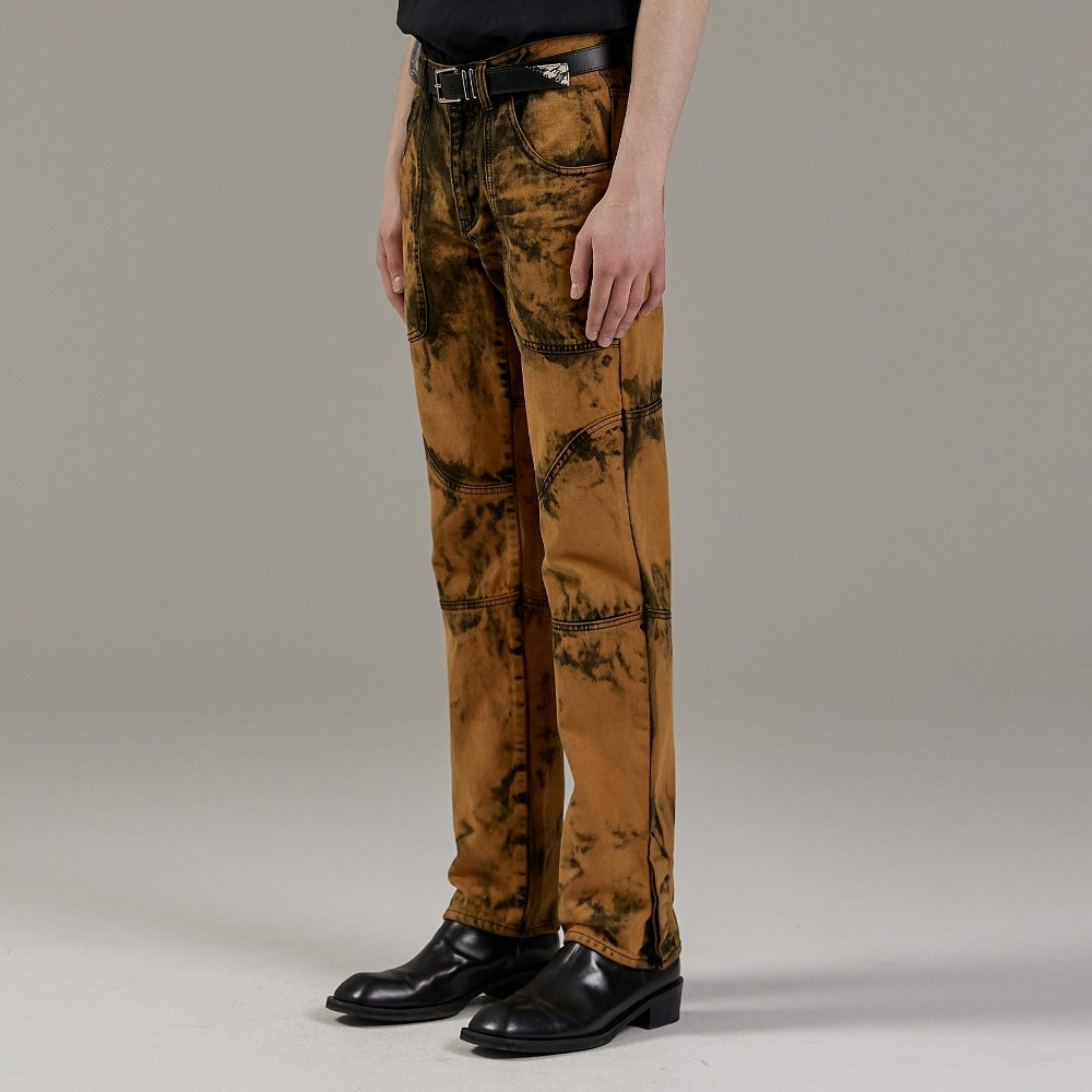 CHEDDAR ORANGE CURVE DENIM PANTS메종미네드 MAISON MINED 메종미네드