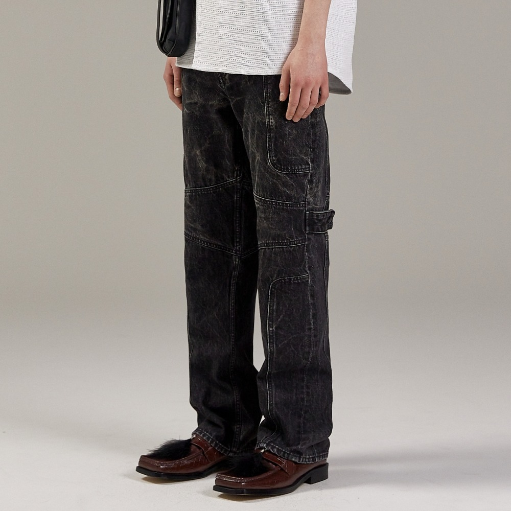 WATERSKI WAVE DENIM PANTS BLACK메종미네드 MAISON MINED 메종미네드