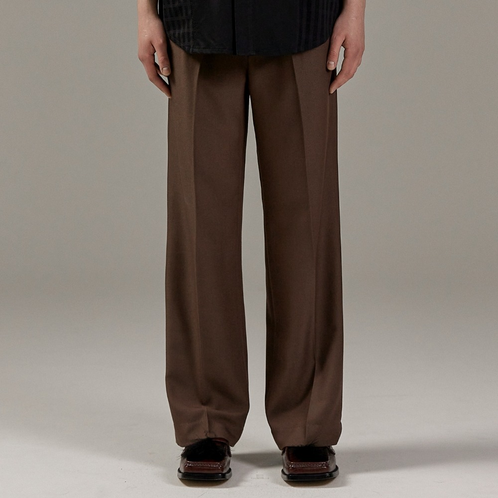 SAINT TWO TUCK WIDE PANTS BROWN메종미네드 MAISON MINED 메종미네드