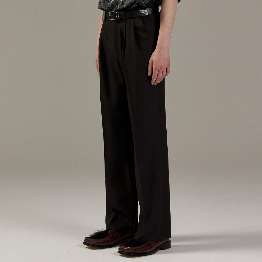 SAINT TWO TUCK WIDE PANTS BLACK메종미네드 MAISON MINED 메종미네드