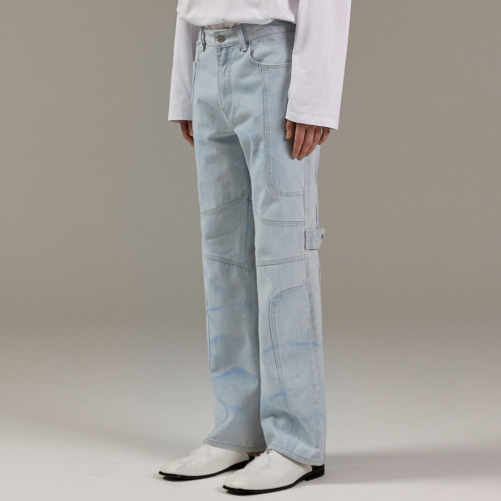 WATERSKI WAVE DENIM PANTS L/BLUE메종미네드 MAISON MINED 메종미네드