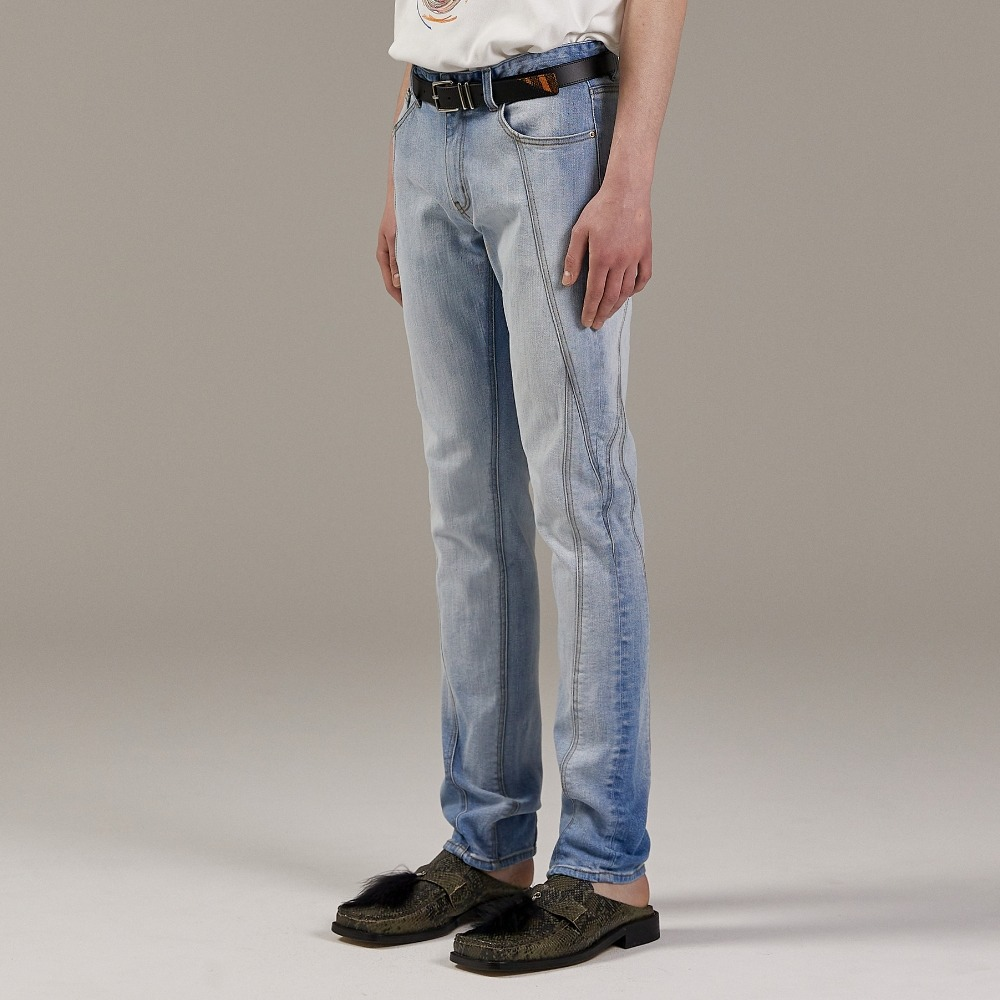 OPT TURNING DENIM PANTS ICE메종미네드 MAISON MINED 메종미네드