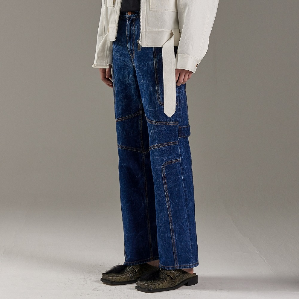 WATERSKI WAVE DENIM PANTS INDIGO메종미네드 MAISON MINED 메종미네드