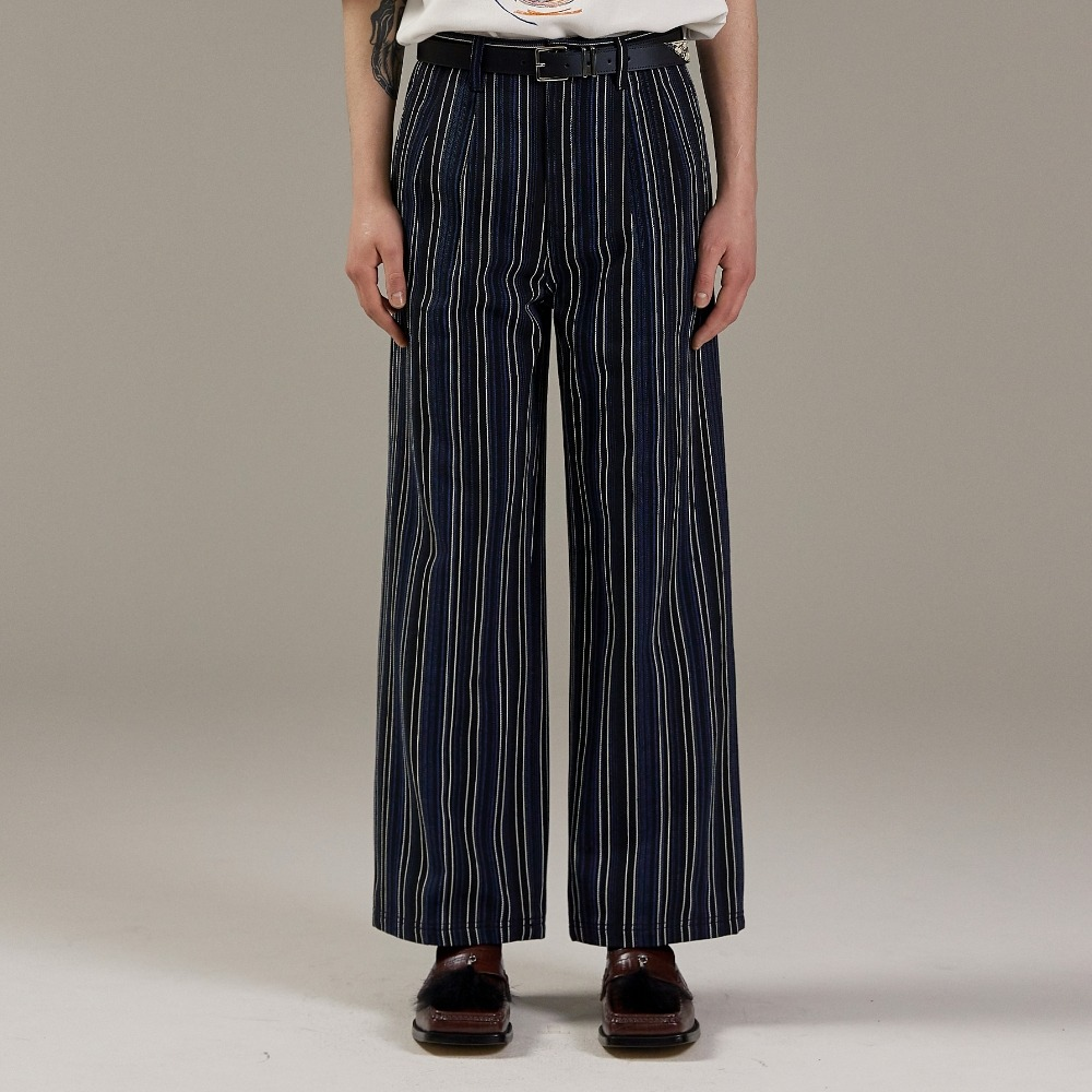 MULTI STRIPE WIDE DENIM PANTS메종미네드 MAISON MINED 메종미네드