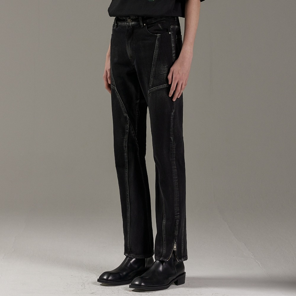 CURVE LEAD DENIM PANTS BLACK메종미네드 MAISON MINED 메종미네드