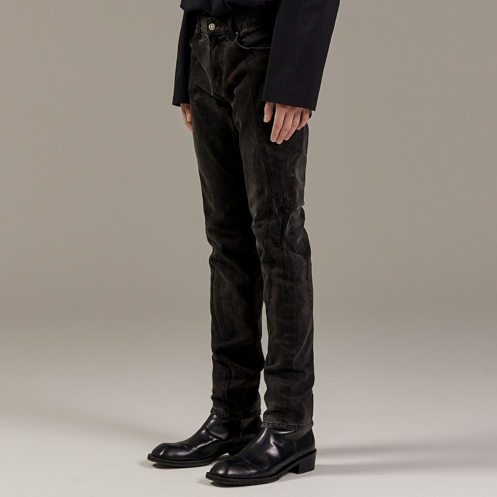 OPT TURNING DENIM PANTS BLACK메종미네드 MAISON MINED 메종미네드