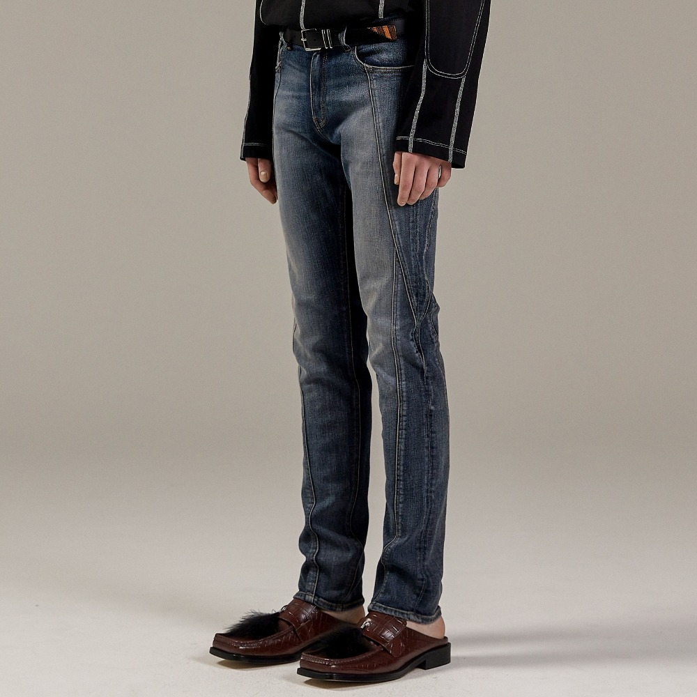 OPT TURNING DENIM PANTS D/BLUE메종미네드 MAISON MINED 메종미네드