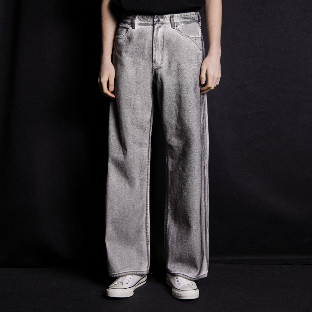 (DALMATIANS)WIDE FIT DENIM PANTS WHITE메종미네드 MAISON MINED 메종미네드