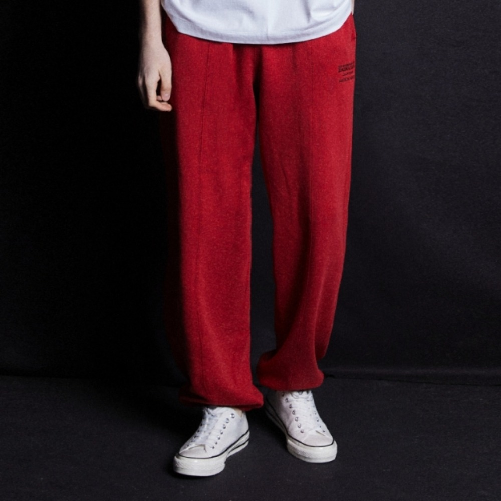 (DALMATIANS)WIDE FIT SWEAT JOGGER PANTS RED메종미네드 MAISON MINED 메종미네드