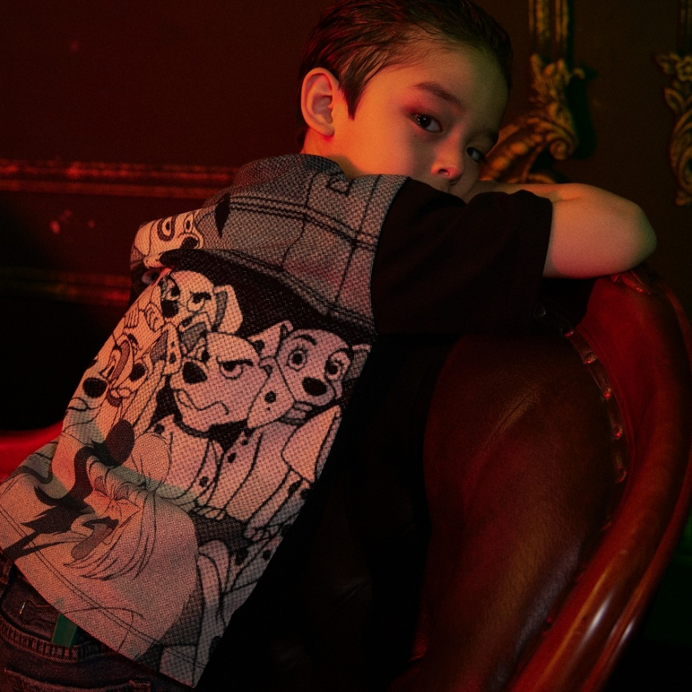 (DALMATIANS)KIDS FLIP SIDE GRAFIC HALF T BLACK메종미네드 MAISON MINED 메종미네드